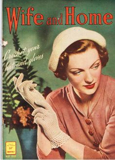 VINTAGE TREASURE - Wife and Home Magazine May 1950 www.vintagetreasure.co.nz