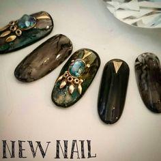 #nail #nailart #naildesign #gel #gelart #love #art #beautiful #nailswag #instanails #ネイル #ネイルアート #ネイルデザイン #ジェル #� Em Nails, Bling Nails, Nail Art Diy, Easy Nail Art, French Nails, Bohemian Nails, Jasmine Nails, Lace Nail Design, Stone Nail Art
