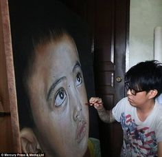 Money maker: Mr Hoo became a professional artist four-five years ago...