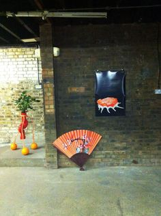 Installation at This is my Land exhibition, Trinity Buoy Wharf, 2011.