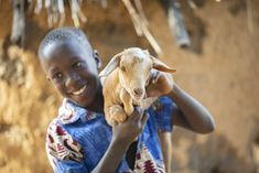 A goat can be a life-changer for a child in need! Just ask Elianu, 11, in Uganda, whose family recently received one through our Real Gifts Catalog. In many communities where we work, goats are synonymous with wealth; breeding them is a lucrative business that can even pay for a child's education. Goat milk is tasty and supplies much-needed nutrition for children's growing bodies. Shop now for meaningful gifts like these that make a real difference in children's lives! Helping Children, Children In Need, Charity Gifts, Giving Back, Meaningful Gifts, Goat Milk, Uganda, Wealth, Bodies