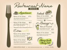 Restaurant Placemat Menu Design Template Layout | Vector | Colourbox