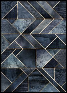 Abstract Nature - Dark Blue Poster in the group Posters & Prints / Sizes / 50x70cm | 20x28