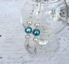 Dolphin charm dangle earrings by OnTheWireByMaryJane on Etsy, $15.00