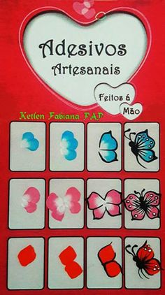 Mariposas Butterfly Nail Art, Flower Nail Art, Nail Polish Designs, Nail Art Designs, Diy Nails, Manicure, One Stroke Nails, Animal Nail Art, Nail Designs Spring