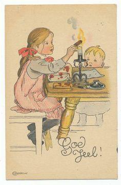 Elsa Beskow. Lackar paket. 1912 på Tradera. Signerade | Allmänt | Vykort