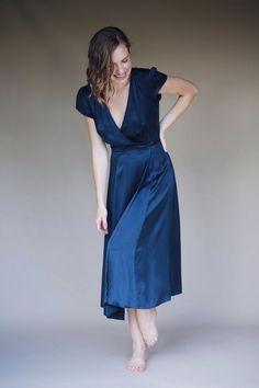 61aad6de2405 Doyenne the Label - Lapis - Wrap Dress Full Skirts