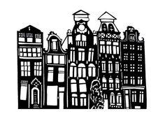 Amsterdam - A4 Print of Original Papercutting
