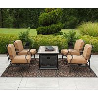 Member's Mark Heirloom Bay 5 pc. Fire Chat Set with Premium Sunbrella® Fabric - Sam's Club