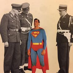 #collageart #collagecollectiveco #collageartist #collagist #superman #police #analog #analogcollage #handmade #handmadecollage #cutnpaste #cutandpaste #cops #stevereeves  #controle