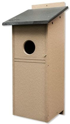 Recycled Poly Flicker Bird House Box Set up a nesting box for feathered friends with this cute poly bird house box. Ultra durable and easy to maintain. #birdhouse