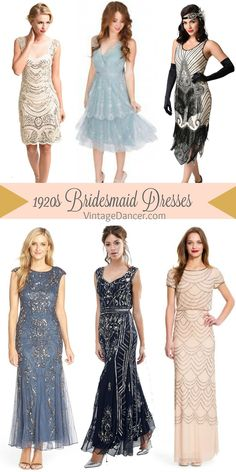 Bridesmaid Dresses, Mother of the Bride Dresses : bridesmaid short dresses and long gowns. Great Gatsby , Prohibition, Art Deco, Old Hollywood themes. Gatsby Wedding Dress, Vintage Wedding Theme, Wedding Dresses, Wedding Themes, 1920s Wedding, Wedding Ideas, Bride Dresses, Vintage Weddings, Gangster Wedding