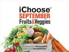 With the change in seasons, know which fruits and vegetables to look for in September. www.facebook.com/ichoose600