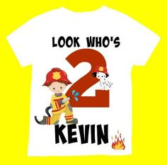 Birthday Boy Little Fire Shirt, Personalized Firegirl shirt , with child name and age.