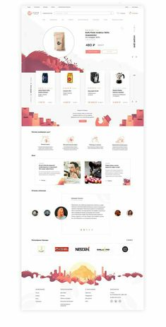 Coffee-shop brand identity and great UI with awesome UX on Behance Design Shop, Site Web Design, App Design, Website Designs, Homepage Design, Website Layout, Web Layout, Layout Design, Template Web