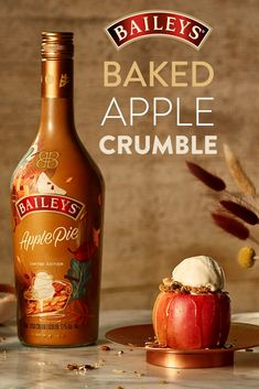 How do ya like these apples? We bet you'll LOVE new Baileys Apple Pie for a cozy dessert this fall.  Drinks Alcohol Recipes, Yummy Drinks, Alcoholic Drinks, Apple Crumble Pie, Apple Pie, Baileys, Fall Recipes, Holiday Recipes, Baked Apples