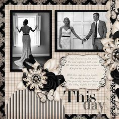 Wedding Scrapbook Layouts | 12X12 Layouts | Scrapbooking Ideas | Creative Scrapbooker Magazine #scrapbooking #12X12layouts #weddings