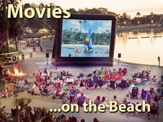 Movies on the Beach ... ready for summer!