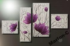 Abstract Tree Painting, Kerala Mural Painting, 3 Piece Canvas Art, Canvas Frame, Decoupage On Canvas, Homemade Art, Cardboard Art, Painting Lessons, Nature Paintings