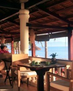 Evason Ana Mandara Nha Trang  ( Nha Trang, Vietnam )  The Pavilion Restaurant serves an Asian fusion menu and has views across Nha Trang Bay. #Jetsetter #JSBeachDining