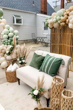 Dont miss this impressive drive-by baby shower! The party decorations are stunning! See more party ideas and share yours at CatchMyParty.com #catchmyparty #partyideas #partydecorations #babyshower #drivebybabyshower