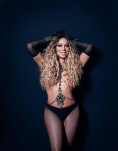 Mariah Carey wearing the Twenties Tights for Paper Magazine's Las Vegas Issue. Photographer: James White Stylist: Robért Behar