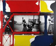 William Klein DanceInBrooklynNewYork1955 - painted contact sheets