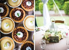 Mini pie favors for wedding guests - so cute! See more from this timeless garden wedding in Knoxville photographed by @waldorf! Planning by @sonyamscott, rentals and decor by All Occasions Party Rentals | The Pink Bride www.thepinkbride.com