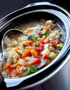 Slow Cooker Chicken Vegetable Soup is one of those hearty slow cooker soup recipes that's filling enough to eat as an entree.