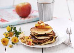 Pancakes mit Calvados-Äpfeln