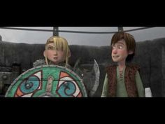 """How To Train Your Dragon clip Dragon Training scene """"So I guess it's just you and me, huh?"""" """"Nope, just you!"""" lol"""