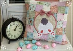 Easter Bunny Butt Cushion by Rose from Threadbare Creations