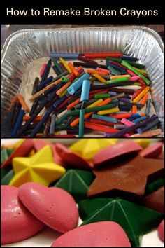 Diy Crayons, Broken Crayons, Recycling Ideas, Ways To Recycle, Decoupage, Craft Supplies, Clever, Wax, Crafting