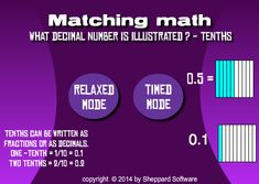 Learn decimals the fun way with this decimal model game. Decimal Number, Integers, Place Values, Fractions, Math Games, Writing, Learning, Studying, Teaching