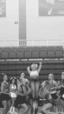 Double back up - extension. #cheer #cheerleading #stunts