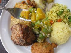 The best of bajan food world! Home Recipes, Indian Food Recipes, Bajan Recipe, Island Food, Island Life, West African Food, Caribbean Recipes, Caribbean Food, Creamed Potatoes