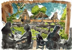 All the sketches from my Bali Sketching Trip 2014 | Parka Blogs. Teoh Yi Chie