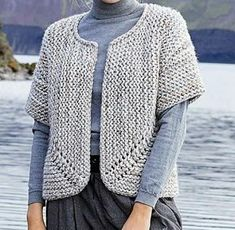 Discover thousands of images about Jutka Cardigan - Free Pattern Knit Cardigan Pattern, Sweater Knitting Patterns, Crochet Cardigan, Knit Patterns, Free Knitting, Knit Crochet, Crochet Hooks, Cardigan Diy, Diy Crafts Knitting