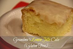 Grandma's Lemon Jello Cake (Gluten Free) - Beauty Through Imperfection