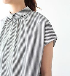 VC-1131 Back button blouse - Veritecoeur,SHIRTS - Veritecoeur(ヴェリテクール)