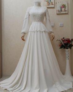 Muslimah Wedding Dress, Muslim Wedding Dresses, Elegant Wedding Dress, White Wedding Dresses, Wedding Gowns, Hijab Evening Dress, Hijab Dress Party, Evening Dresses, Hijab Fashion