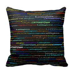 Lattingtown Text Design I Throw Pillow