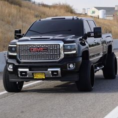 Our custom built headlights and mirrors on this GMC Denali Gmc Pickup Trucks, Lifted Chevy Trucks, Gm Trucks, Jeep Truck, Cool Trucks, Gmc Diesel, Diesel Trucks, Gmc Denali Truck, Gmc Vehicles
