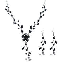 New Women Wedding Bridal Jewelry Crystal Rhinestone Necklace ...