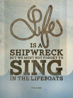 An inspirational quote that is also a nautical quote.