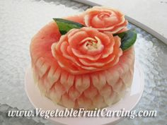 vegetable/fruit carving  /Watermelon birthday cake