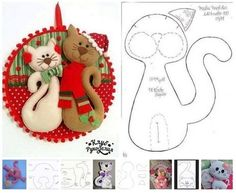 Ambrosial Make a Stuffed Animal Ideas. Fantasting Make a Stuffed Animal Ideas. Animal Sewing Patterns, Felt Patterns, Stuffed Toys Patterns, Grinch Christmas Decorations, Felt Christmas Ornaments, Christmas Wreaths, Felt Crafts, Diy And Crafts, Felt Tree
