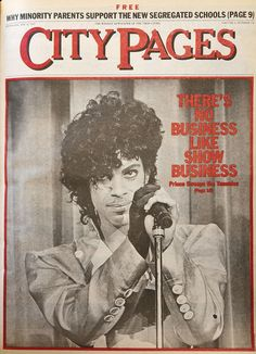 Prince on the cover of City Pages in 1983
