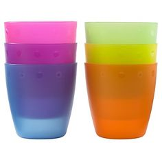 Outdoor Everyday Kids Re-usable Shatter Proof Plastic 250 ml Cups / Tumblers Colorful 6 Pack Party Essential http://www.amazon.co.uk/dp/B0107XHZH0/ref=cm_sw_r_pi_dp_8viqwb1W8GGKE