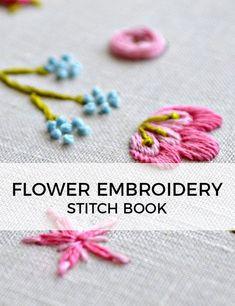 hand embroidery starter kit, beginner embroidery stitches, how to embroider, modern embroidery stitch book, modern needlework Embroidery Designs, Embroidery Stitches Tutorial, Embroidery Flowers Pattern, Silk Ribbon Embroidery, Crewel Embroidery, Embroidery Techniques, Embroidery Kits, Embroidery Tattoo, Knitting Stitches